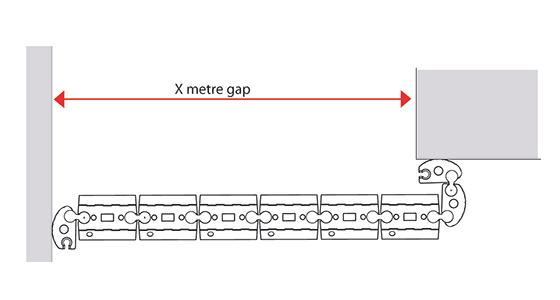 Example deployment plan Floodstop 0.9m